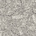 Music Sketchy Doodles. Hand-Drawn Vector Royalty Free Stock Photos - 42195568