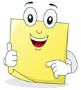 Yellow Post It Sticky Note Character Stock Images - 42200574