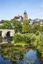 Old Lahn Bridge And View To Wetzlar Dome Stock Image - 42206631