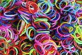 A Colorful Background Rainbow Loom Rubber Bands Fashion Stock Photography - 42210292
