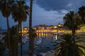 A View Of The Old Town Of Dubrovnik (Palms And Harbour In The Ni Stock Images - 42210874