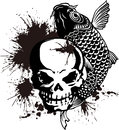 The Skull And A Carp And Paint Stock Image - 42213411