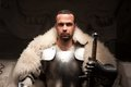 Medieval Warrior In Armor And Fur Mantle Royalty Free Stock Photography - 42214397