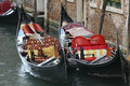 Gondolas In The Canals Of Venice Royalty Free Stock Photo - 42237275