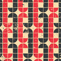 Vintage Red And Black Geometric Seamless Pattern, Vector Abstrac Royalty Free Stock Images - 42238029