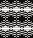 Seamless Geometric Pattern, Simple Vector Black And White Stripe Royalty Free Stock Photo - 42239115