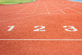 Athletics Track Lane Numbers Stock Images - 42244284
