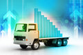 Transportation Of Business Graph In  Truck Stock Images - 42247094