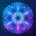 Abstract Vector Shining Cosmic Sphere Royalty Free Stock Photography - 42248797