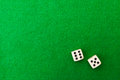 Green Casino Table With Dice Royalty Free Stock Image - 42249146
