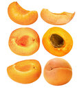 Set Of Ripe Apricots Isolated On The White Background Royalty Free Stock Images - 42249349