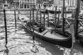 Black And White Gondola Royalty Free Stock Photography - 42251897