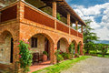 Summer Cottage Agriturismo In Tuscany Royalty Free Stock Photography - 42252487