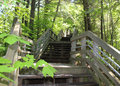 Long Stairway Up From Lake Michigan Royalty Free Stock Photography - 42255257