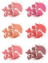 Different Shades Of Powder Blush Stock Photography - 42256302