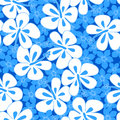 Tropical Hibiscus Simple Abstract Floral Seamless Pattern Stock Photography - 42261782