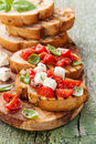Bruschetta With Tomatoes Stock Images - 42264504