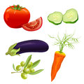 Set Of Different Vegetables Stock Photos - 42265613
