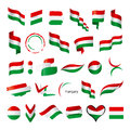 Collection Of Vector Flags Of Hungary Royalty Free Stock Photos - 42276468