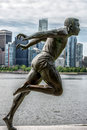 Stanley Park Vancouver Canada Harry Jerome Statue Stock Photo - 42286850