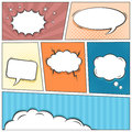 Comic Speech Bubbles Vector Background Royalty Free Stock Photos - 42288788