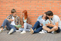 Group Of Students With Books Hanging Out Royalty Free Stock Photos - 42290278