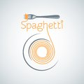 Spaghetti Pasta Plate Fork Background Royalty Free Stock Images - 42291049