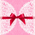 Pink Lacy Vector Wedding Card Template Royalty Free Stock Image - 42297646