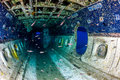 Interior Of An Underwater Aircraft Wreck Royalty Free Stock Image - 42297786