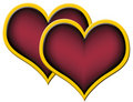 Two Red Hearts Royalty Free Stock Image - 4235696