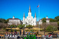 St. Louis Cathedral, Jackson Square, New Orleans Royalty Free Stock Image - 42303056