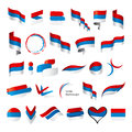 Collection Of Vector Flags Of Serbia Montenegro Royalty Free Stock Photo - 42309585