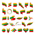 Collection Of Vector Flags Of Lithuania Royalty Free Stock Image - 42309586