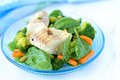Stewed Haddock And Salad Stock Photos - 42330143