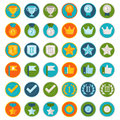 Vector Set Of 36 Flat Gamification Icons Royalty Free Stock Photography - 42330737