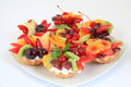 Party Platter With Fruit Cakes Stock Image - 42333481
