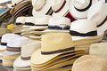 Straw Men Hats Stock Photography - 42334392