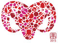 2015 Year Of The Goat Polka Dots Royalty Free Stock Images - 42342539