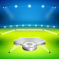 Soccer Stadium With Winners Stand Stock Photography - 42349352
