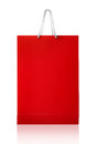 Red Shopping Bag, Isolated With Clipping Path On White Backgroun Stock Image - 42352801