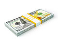 Stack Of New New 100 US Dollars 2013 Edition Banknotes (bills) S Royalty Free Stock Photography - 42363437