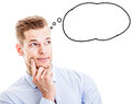 Man With Thought Bubble  Stock Image - 42366791