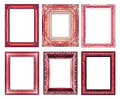 Set Of Vintage Red Frame With Blank Space Royalty Free Stock Photos - 42379648