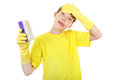 Kid With Bath Sponge Stock Photos - 42388113