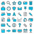 Color Web Icons Royalty Free Stock Photography - 42392457