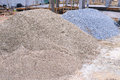Piles Sand And Gravel Stock Photography - 42393152