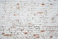 Cracked White Grunge Brick Wall Textured Stock Photos - 42395343