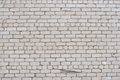 Cracked White Grunge Brick Wall Textured Royalty Free Stock Image - 42395356