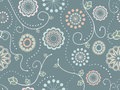 Decorative Floral Seamless Pattern Stock Photo - 42399860
