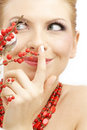 Red Ashberry Girl Royalty Free Stock Images - 4246679